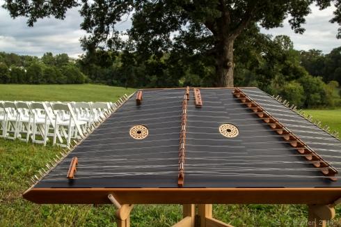 Dulcimer set up for wedding
